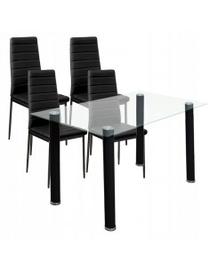 Stół clear + 4 krzesła...
