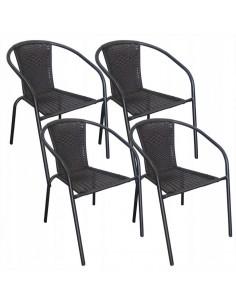 Komplet 4 krzeseł Bistro...
