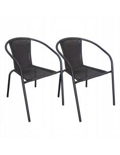 Komplet 2 krzeseł Bistro...