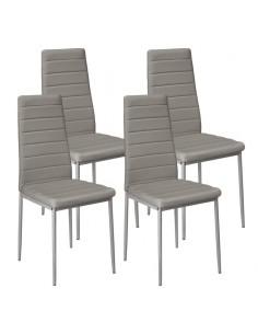 Krzesła Nicea szare 4 szt