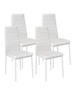 Krzesła Nicea białe 4 szt