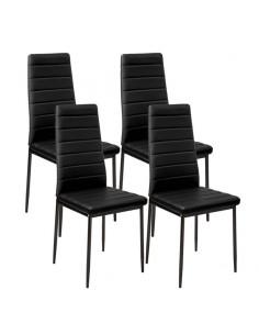 Krzesła Nicea czarne 4 szt