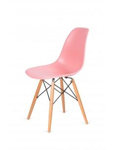 Krzesło DSW WOOD jasna brzoskwinia.34  - podstawa drewniana bukowa