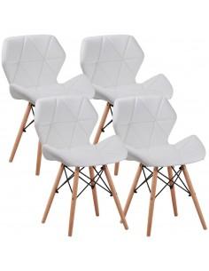 4 x Krzesło ELIOT białe -...