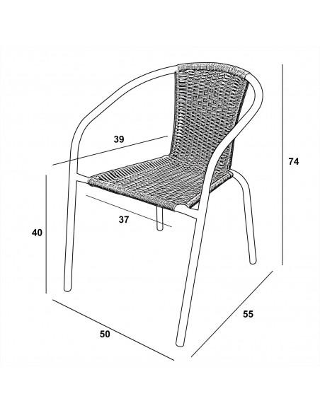 Zestaw balkonowy BISTRO biały - stół i 4 krzesła