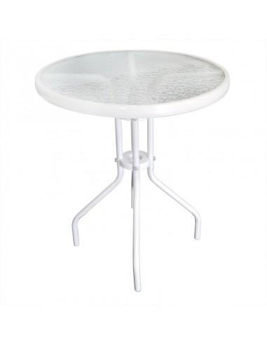 Zestaw Balkonowy Bistro Biały Stół I 4 Krzesła