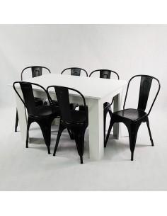 Zestaw stół Modern biały i...