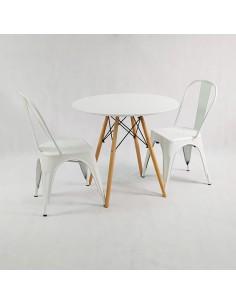 Zestaw stół DSW 70 biały i...