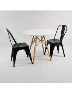 Stolik LULA biały - szkło, tworzywo sztuczne