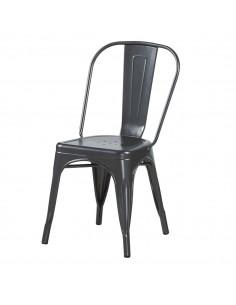Stolik LULA czarny - szkło, tworzywo sztuczne