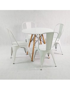 Stolik MIKE 100x100 biały - płyta MDF
