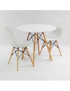 Stoliki kawowe SLOW DUO GLASS - szkło, nogi dębowe