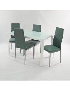 Zestaw stół Monako biały 4...