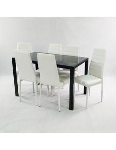 Zestaw stół Monako czarny i...