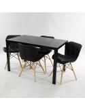 Fotel EGG ciemny szary.5 - wełna, podstawa czarna
