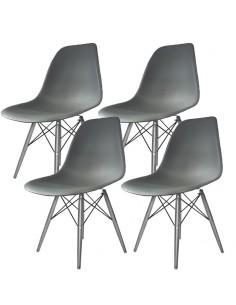 4 krzesła DSW Milano ciemno...