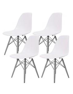4 krzesła DSW Milano białe,...