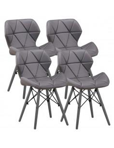 4 x Krzesło ELIOT szare -...