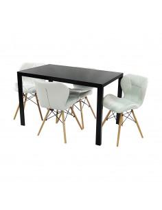 Zestaw stół Monako czarny 4...