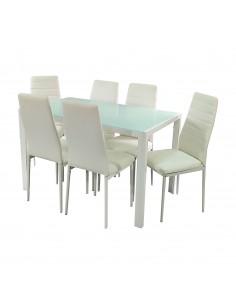 Zestaw stół Monako biały 6...
