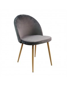 Krzesło DENWER VELVET szare...