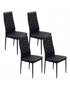4 krzesła MONAKO czarne