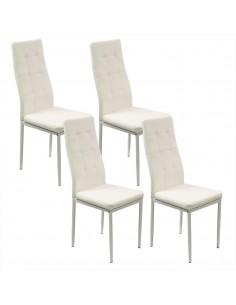 4 krzesła MONAKO białe