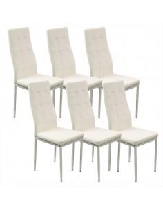 6 krzeseł MONAKO białe