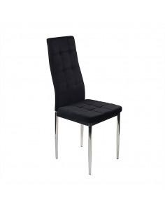 Krzesło MONAKO VELVET czarne