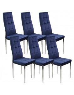 6 krzeseł MONAKO VELVET...