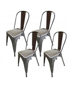 4 krzesła metalowe Paris