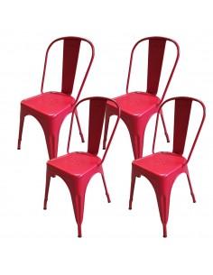4 krzesła metalowe Paris...