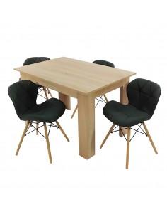 Zestaw stół Modern sonoma i...
