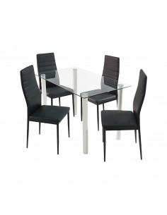 Stół Nicea biały i 4...
