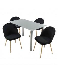 Stół NICEA szary i 4...