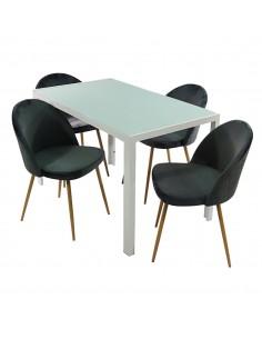 Stół MONAKO biały i 4...