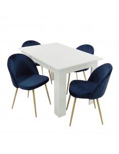 Stół MODERN biały i 4...