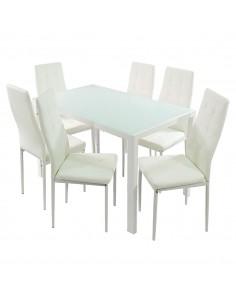 Stół MONAKO biały i 6...