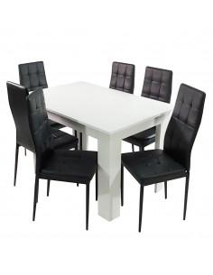 Stół MODERN biały i 6...
