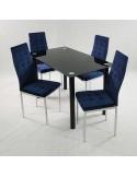 Krzesło DSW Milano Niebieskie