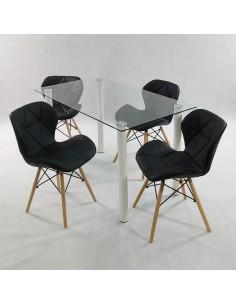 Krzesło Ekoskóra EPC Czarne