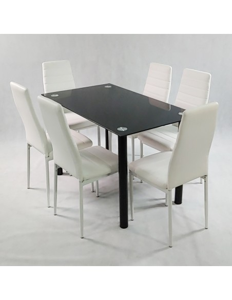 4 x Krzesło DSW Milano Białe - nogi czarne