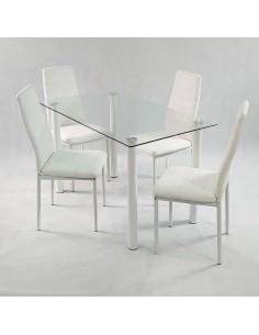 Stolik Marmurowy RGE ACCENT 75x75 biały złoty