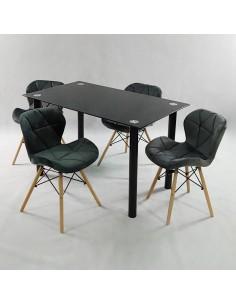 Fotel FLOW czarny/biały