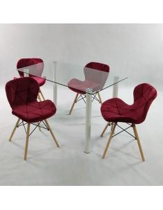 Fotel FORO szary OUTLET - polipropylen, podstawa bukowa