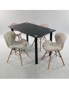 Fotel GULAR DSM czarny outlet - polipropylen, podstawa metalowa czarna