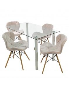 Fotel PASSION czarny, ekoskóra - włókno szklane/chrom, outlet