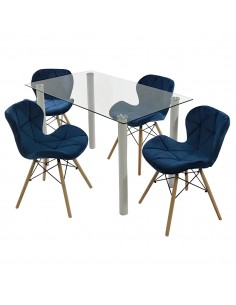 Zestaw stół Nicea biały i 4...