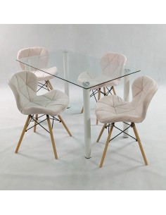 Fotel PLUSH czarna zebra outlet - podstawa bukowa