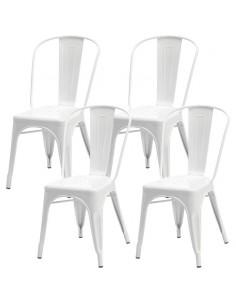 4 krzesła metalowe TOLIX białe